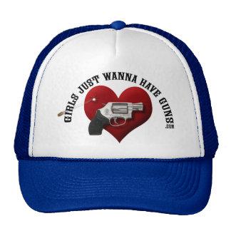 Los chicas apenas quieren tener gorra de los armas
