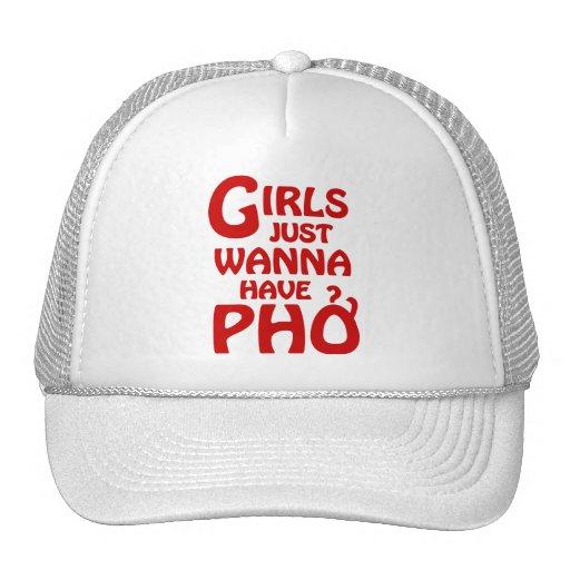 Los chicas apenas quieren tener Phở Gorros Bordados