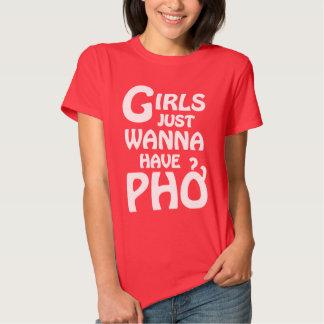Los chicas apenas quieren tener Phở Poleras
