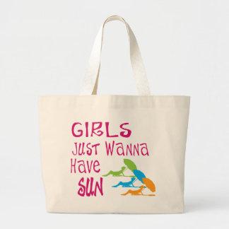Los chicas apenas quieren tener Sun Bolsa Tela Grande