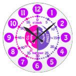 Los chicas aprenden decir a tiempo niños púrpuras  relojes