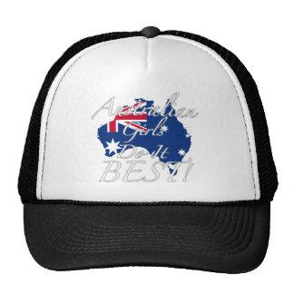 ¡Los chicas australianos lo hacen mejor! Gorros Bordados
