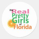 los CHICAS BONITOS reales de la Florida Etiqueta Redonda
