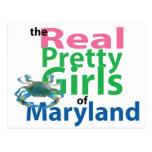 Los chicas bonitos reales de Maryland Tarjetas Postales