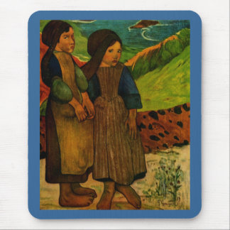 Los chicas bretones de Paul Gauguin (1889) Alfombrillas De Ratón