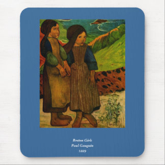 Los chicas bretones de Paul Gauguin (1889) Tapete De Ratón