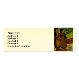 Los chicas bretones de Paul Gauguin (1889) Tarjeta De Visita