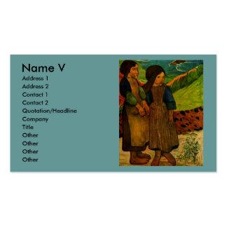 Los chicas bretones de Paul Gauguin (1889) Plantilla De Tarjeta Personal