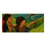 Los chicas bretones de Paul Gauguin (1889) Tarjetas Publicitarias