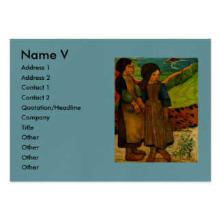Los chicas bretones de Paul Gauguin (1889) Tarjetas De Visita Grandes