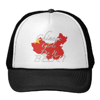 ¡Los chicas chinos lo hacen mejor! Gorras De Camionero