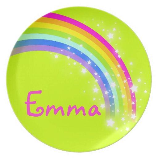 Los chicas conocidos de Emma del rosa de la verde  Plato De Comida