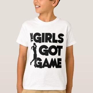 Los chicas consiguieron el juego, negro playera