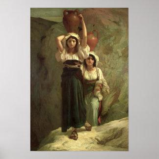 Los chicas de Alvito, 1855 Póster