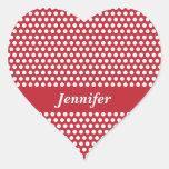 Los chicas de encargo nombran a los pegatinas pegatina de corazon personalizadas