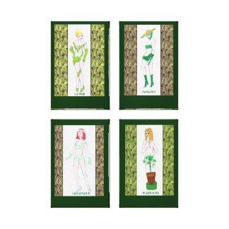 Los chicas de la hierba impresión en lienzo estirada