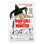 Los chicas de la playa y el imán del monstruo