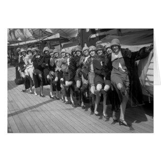 Los chicas de la sierpe 1900s tempranos felicitación