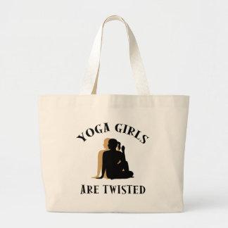 Los chicas de la yoga son regalo torcido bolsas