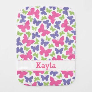 Los chicas de las mariposas personalizaron el paño paños para bebé