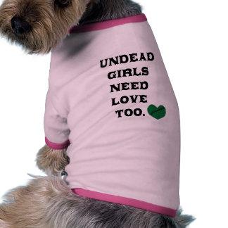 Los chicas de los Undead necesitan amor también Ropa Para Mascota