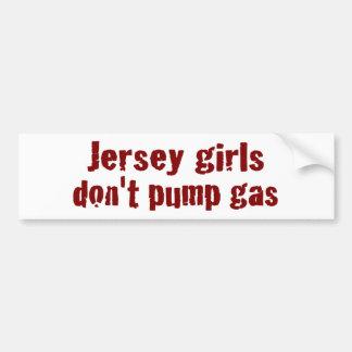 Los chicas del jersey no bombean el gas (nuevo) pegatina para auto