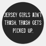 Los chicas del jersey no son basura. La basura Pegatina Redonda