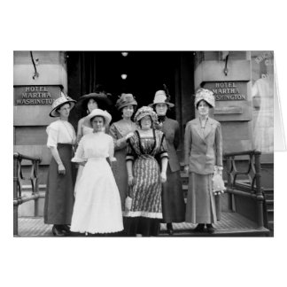 Los chicas del país toman Nueva York, 1910 Tarjeta De Felicitación