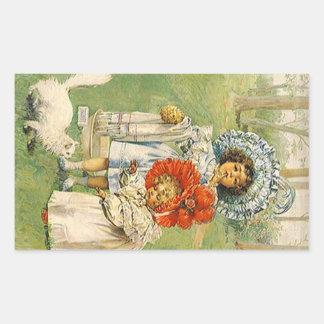 Los chicas del Victorian del vintage del pegatina