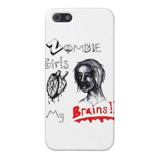 Los chicas del zombi aman mis cerebros iPhone 5 carcasa