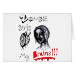 Los chicas del zombi aman mis cerebros felicitacion