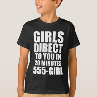 Los chicas dirigen a usted playera