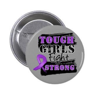 Los chicas duros del cáncer pancreático luchan fue pin redondo 5 cm