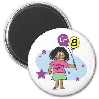 Los chicas étnicos soy el 8vo cumpleaños 8 imán de frigorifico