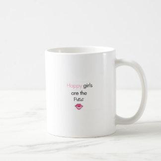 Los chicas felices son los más bonitos tazas