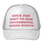 Los chicas feministas apenas quieren tener gorra