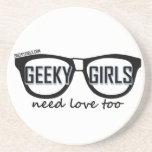 Los chicas Geeky necesitan amor también Posavasos Manualidades