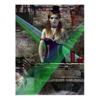 Los chicas góticos se unen a me fantasía del vampi tarjeta postal