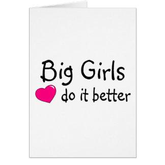 Los chicas grandes mejora tarjeta de felicitación