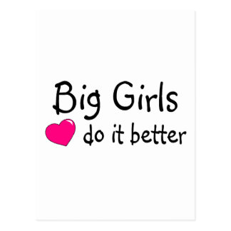 Los chicas grandes mejora tarjetas postales