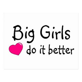 Los chicas grandes mejora tarjeta postal