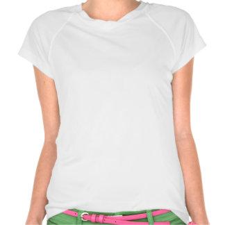 "Los ""chicas gruesos no abandonan"" blanco/púrpura tee shirts"