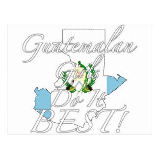 ¡Los chicas guatemaltecos lo hacen mejor! Postal