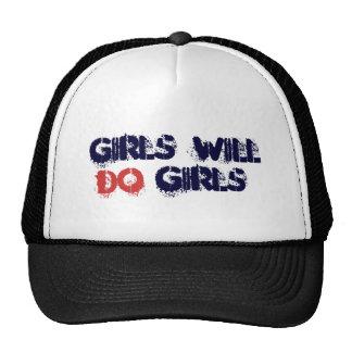 Los chicas harán diseño del texto del chica-Grunge Gorras De Camionero