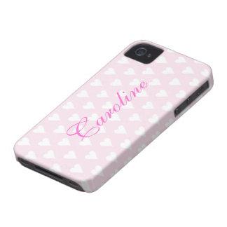 Los chicas iniciales personalizados de C nombran c Case-Mate iPhone 4 Cárcasas