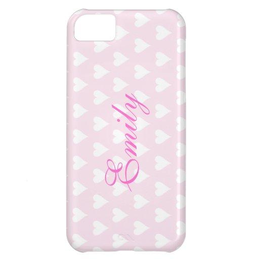 Los chicas iniciales personalizados de E nombran c Funda Para iPhone 5C