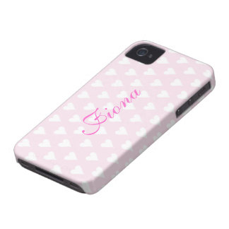 Los chicas iniciales personalizados de F nombran iPhone 4 Case-Mate Carcasas