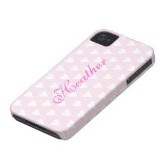 Los chicas iniciales personalizados de H nombran Case-Mate iPhone 4 Cárcasas