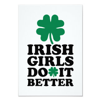 """Los chicas irlandeses mejora el trébol invitación 3.5"""" x 5"""""""
