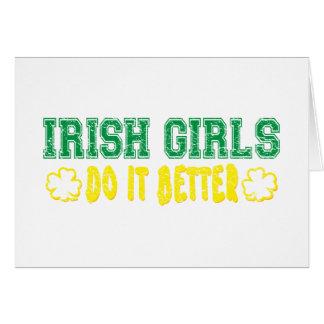 Los chicas irlandeses mejora tarjeta de felicitación